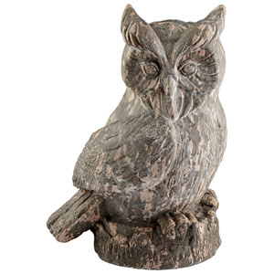 Washed Ebony Owlet Sculpture