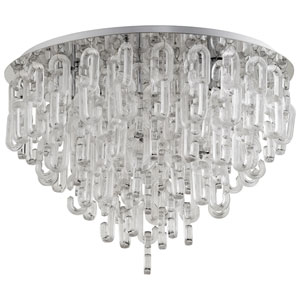 Centaurus Chrome Six-Light Flush Mount