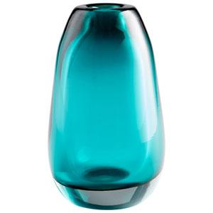 Small Blown Ocean Vase
