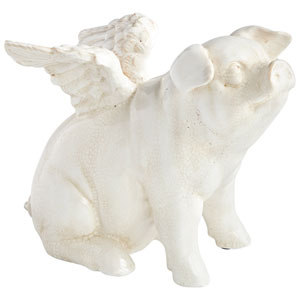 Oink Angel Sitting Sculpture