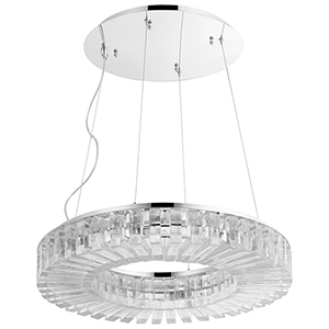 Kallick Polished Nickel Eight-Light LED Pendant