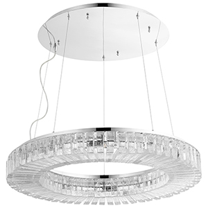 Kallick Polished Nickel 10-Light LED Pendant