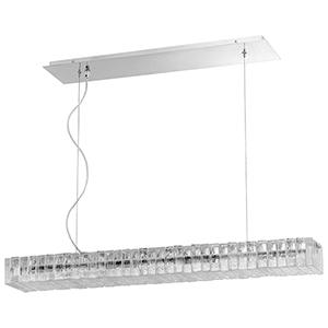 Kallick Polished Nickel Eight-Light LED Pendant