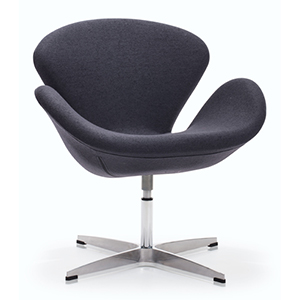 Pori Iron Gray and Steel Frame Accent Chair