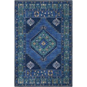 Arabia Ayda Blue Rectangular: 7 Ft. 6 In. x 9 Ft. 6 In. Rug