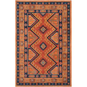 Arabia Nadine Orange Rectangular: 2 Ft. x 3 Ft. Rug