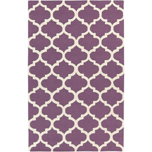 Pollack Stella Purple and White Rectangular: 2 Ft x 3 Ft Rug