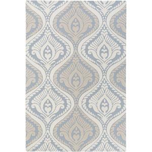 Annette Bridgette Light Blue and Ivory Rectangular: 2 Ft. x 3 Ft. Rug