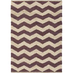 Portico Sadie Purple and Beige Rectangular: 4 Ft x 6 Ft Rug