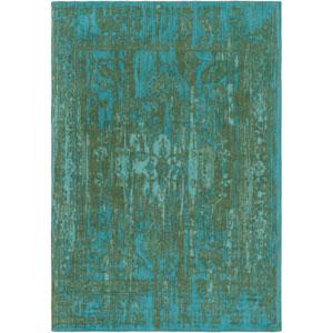 Elegant Maya Green and Teal Rectangular: 2 Ft. x 3 Ft. Area Rug