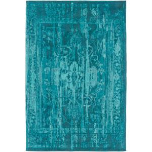 Elegant Maya Teal Rectangular: 8 Ft. x 10 Ft. Area Rug