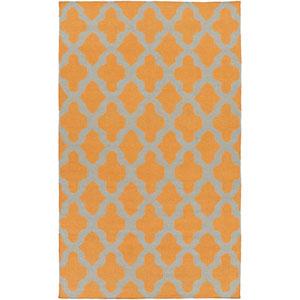 York Olivia Orange and Gray Rectangular: 10 Ft x 14 Ft Rug