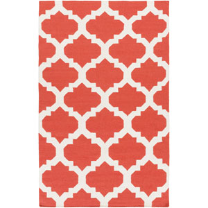 York Harlow Coral and White Rectangular: 10 Ft x 14 Ft Rug