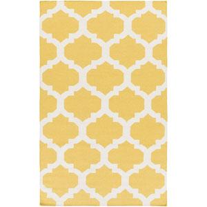 York Harlow Yellow and White Rectangular: 10 Ft x 14 Ft Rug