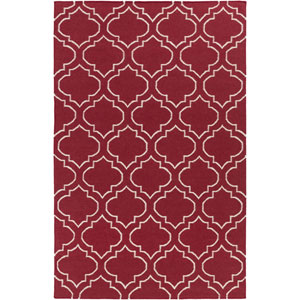York Sara Red and Ivory Rectangular: 3 Ft x 5 Ft Rug