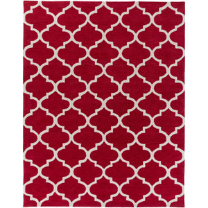 Holden Finley Red and Ivory Rectangular: 7 Ft 6 In x 9 Ft 6 In Rug
