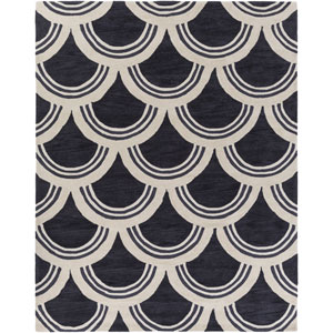 Holden Sienna Charcoal and Ivory Rectangular: 7 Ft 6 In x 9 Ft 6 In Rug