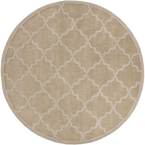 Central Park Abbey Tan Round: 9 Ft 9 In Rug