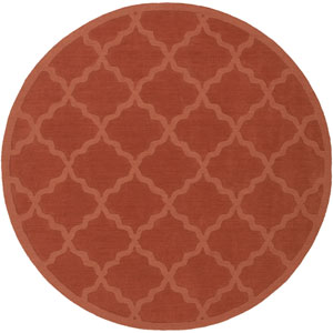 Central Park Abbey Rust Round: 9 Ft 9 In Rug