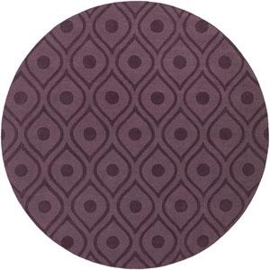 Central Park Zara Purple Round: 9 Ft 9 In Rug