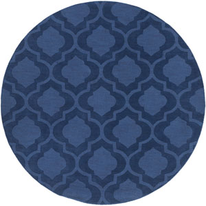 Central Park Kate Navy Round: 9 Ft 9 In Rug