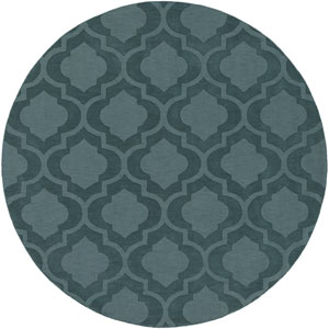 Central Park Kate Teal Round: 7 Ft 9 In Rug