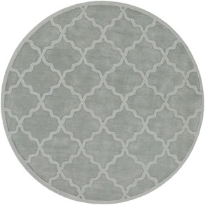 Central Park Abbey Light Blue Round: 7 Ft 9 In Rug