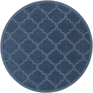 Central Park Abbey Blue Round: 9 Ft 9 In Rug