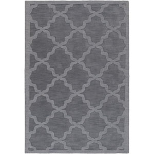 Central Park Abbey Charcoal Rectangular: 10 Ft x 14 Ft Rug