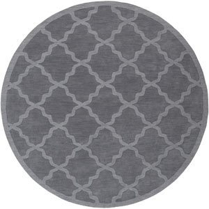 Central Park Abbey Charcoal Round: 7 Ft 9 In Rug