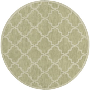 Central Park Abbey Sage Round: 9 Ft 9 In Rug