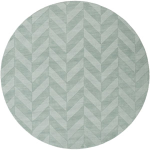 Central Park Carrie Teal Round: 9 Ft 9 In Rug