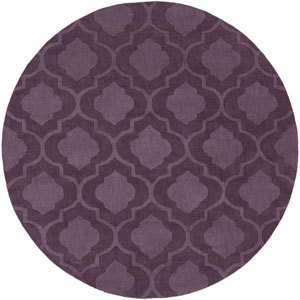 Central Park Kate Purple Round: 9 Ft 9 In Rug