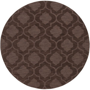 Central Park Kate Brown Round: 9 Ft 9 In Rug