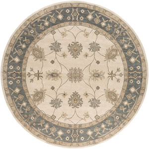 Middleton Willow Gray and Ivory Round: 3 Ft 6 In Rug