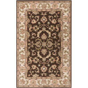 Oxford Aria Brown and Ivory Rectangular: 7 Ft 6 In x 9 Ft 6 In Rug