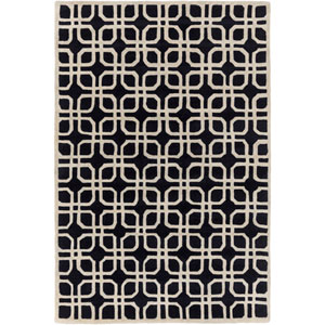 Transit Madison Black Rectangular: 3 Ft. x 5 Ft. Rug