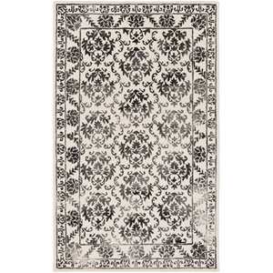 Organic Aubrey Charcoal and Off-White Rectangular: 4 Ft. x 6 Ft. Area Rug