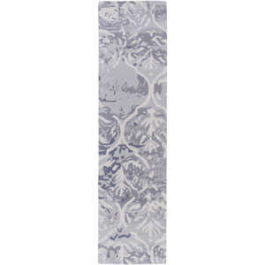 Pacific Holly Slate Gray and Beige Runner: 2 Ft. x 8 Ft.