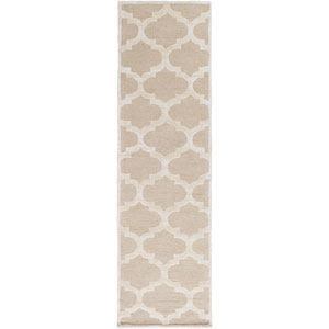 Arise Hadley Beige and Ivory Runner: 2 Ft 3 In x 10 Ft Rug