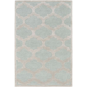 Arise Hadley Light Blue and Gray Rectangular: 7 Ft 6 In x 9 Ft 6 In Rug