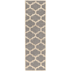 Arise Hadley Gray and Ivory Runner: 2 Ft 3 In x 10 Ft Rug