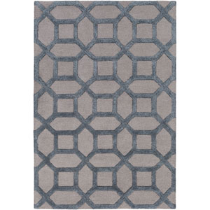 Arise Evie Light Gray and Blue Rectangular: 7 Ft 6 In x 9 Ft 6 In Rug