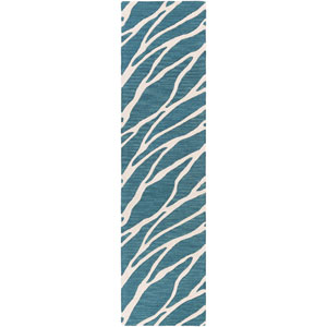 Arise Willa Blue and Ivory Runner: 2 Ft. x 8 Ft.