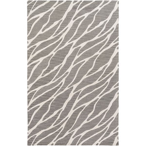 Arise Willa Gray and Ivory Rectangular: 4 Ft. x 6 Ft. Area Rug