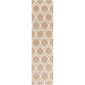 Transit Watson Pink and Beige Runner: 2 Ft. x 8 Ft.