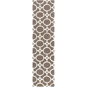 Transit Taylor Gray and Ivory Runner: 2 Ft. x 8 Ft.