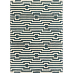 Transit Sawyer Blue and Ivory Rectangular: 7 Ft 6 In x 9 Ft 6 In Rug