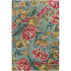 Botany Paisley Multicolor Mint Rectangular: 4 Ft. x 6 Ft. Rug