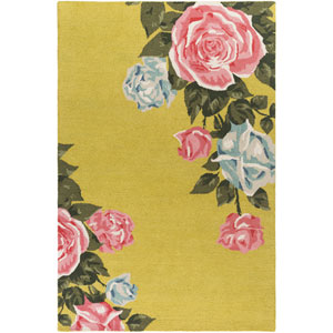 Botany Cora Yellow Rectangular: 4 Ft. x 6 Ft. Rug